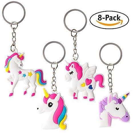 unicorno portachiavi  8-Pack assortiti unicorno partito favorire portachiavi:  ...