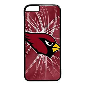 Arizona Cardinals Theme Case for IPhone 6 PC Material Black by runtopwell