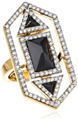 Juicy Couture Jewelry Cubic Zirconia Black Adjustable Ring
