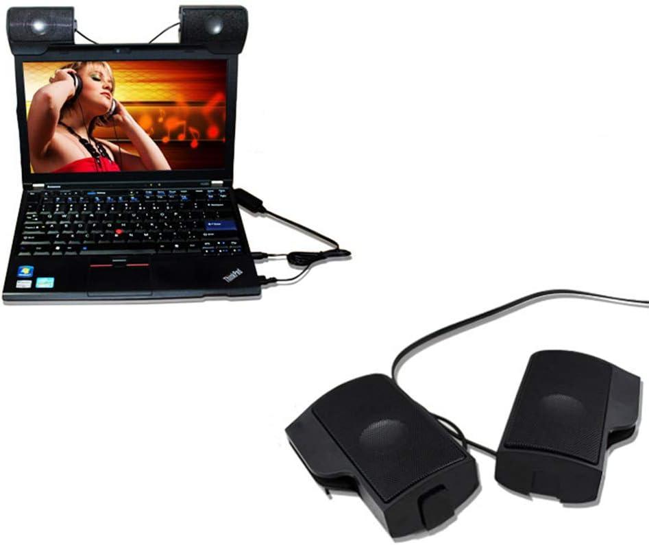 Solustre USB Wired Mini Portable Multimedia Computer Speaker for Laptop Desktop PC Black