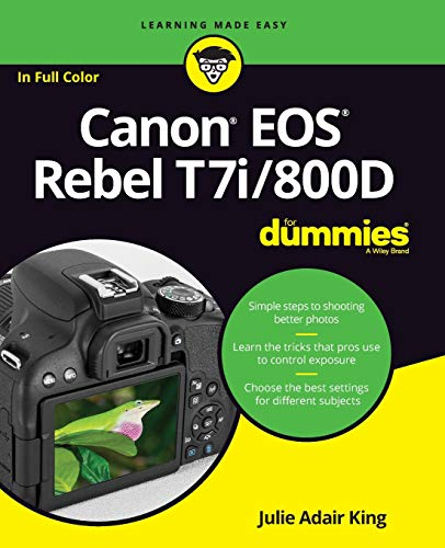 Action, beauty, adventure, and art—start capturing memories today! Canon EOS Rebel T7i/800D For Dummies is your ultimate guide to taking spectacular photos—no photography experience required! The EOS Rebel offers professional features that camera pho...