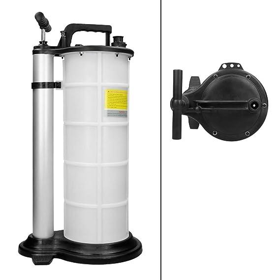 ECD Germany Bomba succionadora de aceite Unidad de drenaje de aceite Dispositivo sangrador de frenos Bomba de transferencia de líquidos 9 Litros: Amazon.es: ...