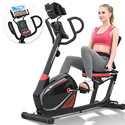 HARISON Recumbent Exercise Bike with Magnetic Resistance and iPad Holder for Home Use