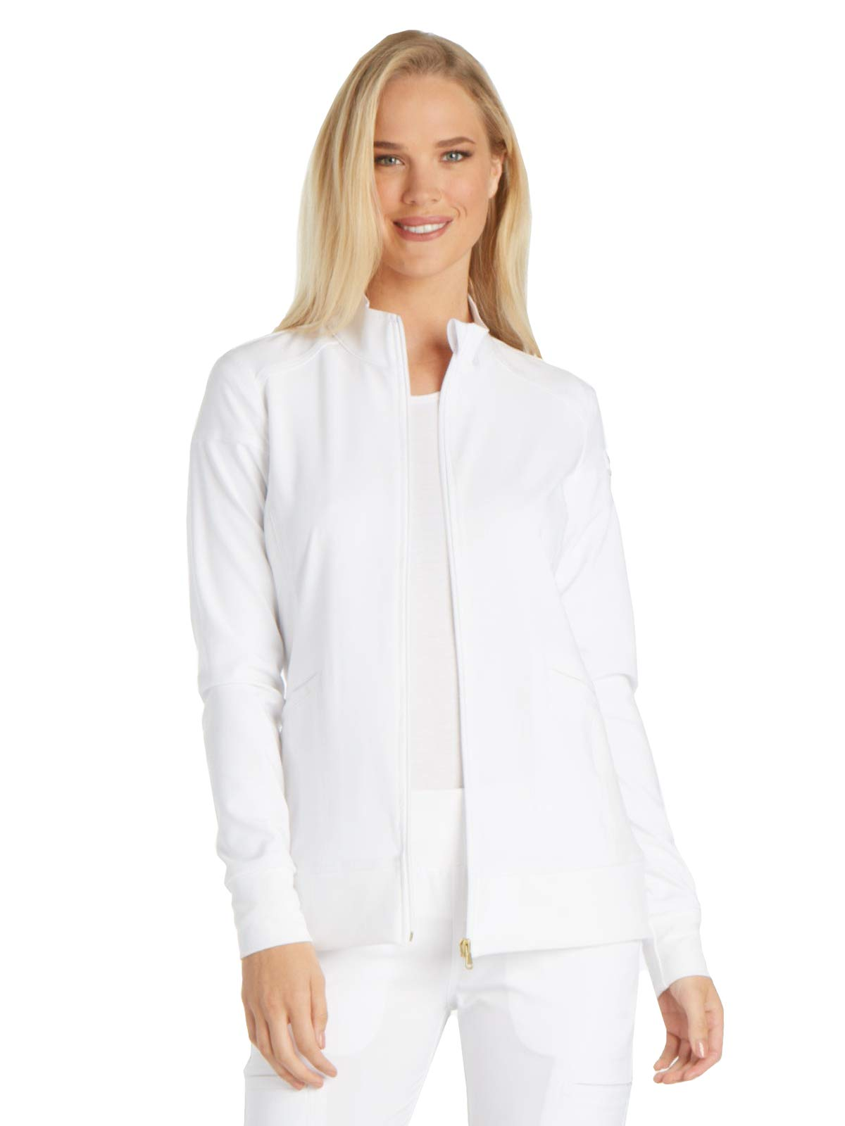 Cherokee iFlex CK303 Women/'s Zip Front Warm Up Jacket Medical Uniforms Scrubs