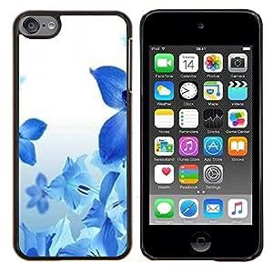 Dragon Case - FOR Apple iPod Touch 6 6th Generation - blue flowers spring fresh nature white - Caja protectora de pl??stico duro de la cubierta Dise?¡Ào Slim Fit