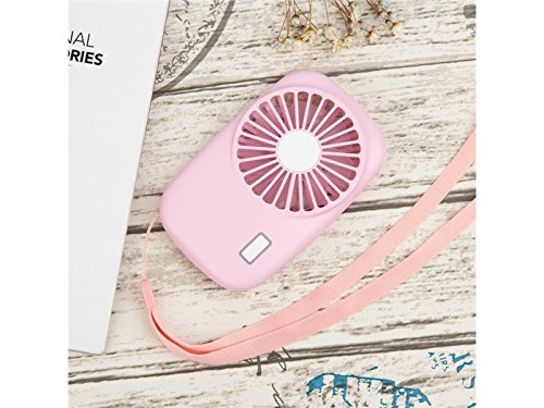 Junson Portable Fashionable Camera Shaped With 2-Speed Adjustable Wind Stand USB Rechargeable Electric Handheld Outdoor Fan (Pink) for Summer