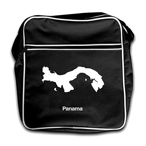 Panamá De Silueta Viaje Bolsa Rojo Retro Negro 11z8qa