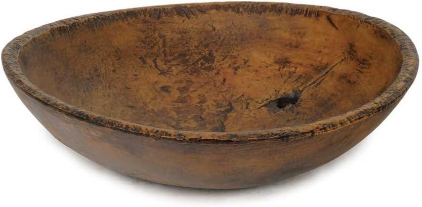 COloial tin Works Large Farmhouse Primitive Bowl, Brown