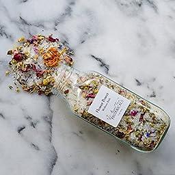 Flower Power - Healing Bath Salts - Organic Bath Tea - Aromatherapy Bath with Essential Oils, Relaxing Bathing Salts