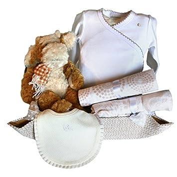 Canastilla regalo para bebé recien nacido - Cuki vaquita Moly beige ...