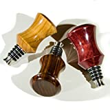 Three, Stout Bottle Stopper Bar Set, Hardwood, Stainless Steel