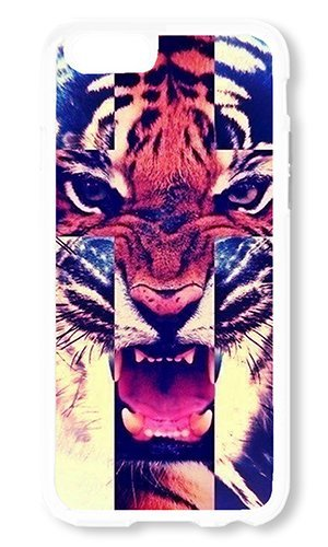 Beguiling Tiger - iPhone 6 Case AOFFLY? Tiger Roar Cross White Soft Case for Apple iPhone 6 4.7Inch