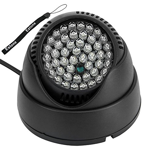 LIYUDL 48-LED Ir Infrared Night Vision Illuminator,DC 12V Security Camera IR Infrared Night Vision (12 Infrared Illuminator)