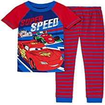 Disney Cars Racing McQueen Super Speed Cotton Pajama Set Size 6