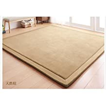 "Light Brown Area Rugs Home Area Rugs Living Room Rugs Bedroom Rugs Kids Area Rugs Modern Rugs Contemporary Rugs Floor Rugs Tatami Mat Play Mat Christmas Gift Idea 80cm x 200cm (31.5"" x 78.7"")"