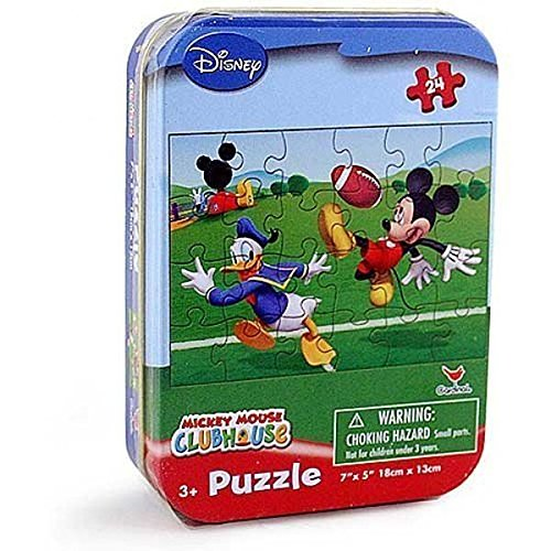 Club Tin - Disney Mickey Mouse Club House 24 Piece Jigsaw Puzzle In Collectible Tin - Designs Vary