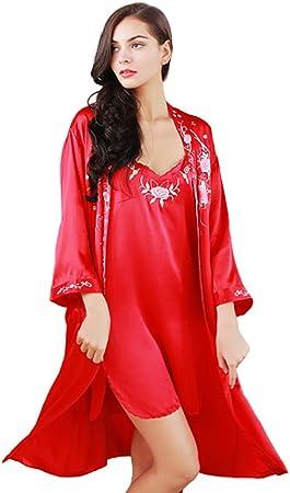 Camisones Pijamas De Seda De Mujer Babydoll Nightwear Set V ...