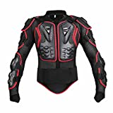 Motorcycle Full Body Armor, Wishwin Armor Jacket Protective Gear Racing BMX Professional for men women Detachable