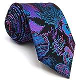 Shlax&Wing Multicolor Patterned Necktie Mens Ties Silk Geometric Unique Wedding Long