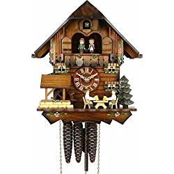 Schneider 12 Cuckoo Clock with 2 Beer Drinkers and a Water Wheel