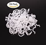 Purture150PCS Plant Support Garden Clips for Vine Vegetables,Tomato Trellis Clips,Makes Garden Vegetables to Grow Upright and Healthier,White