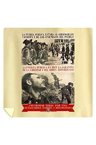 La Fuerze Publica Vintage Poster Spain c. 1937 (88x88 Queen Microfiber Duvet Cover) by Lantern Press