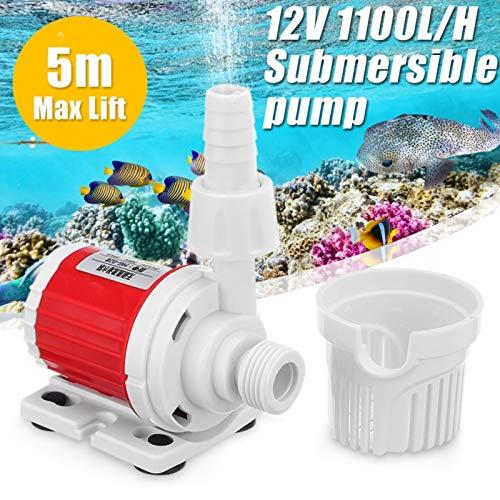 Bestchoice  12V 20W DC 1100L H Adjustable Speed Energy Saving Submersible Water Pump Marine Controllable Water Pump Fish Tank Aquarium