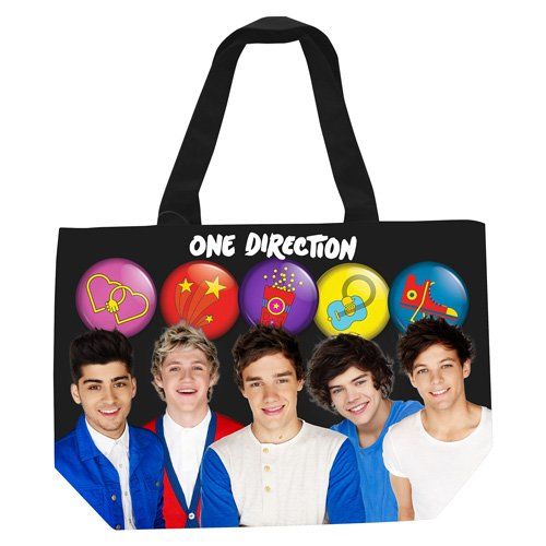 One Direction - Tote Bag Band Buttons (Best One Direction Merchandise)
