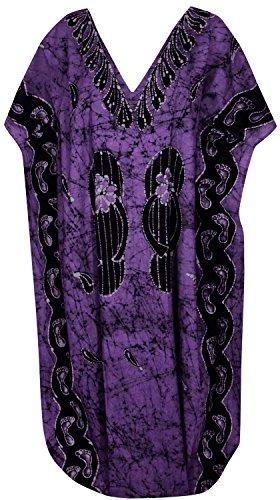 manches coton v robe de cou maillot manches chauve-souris maillot longue plage usure maxi couvrir robe de chapeau de caftan l-4x