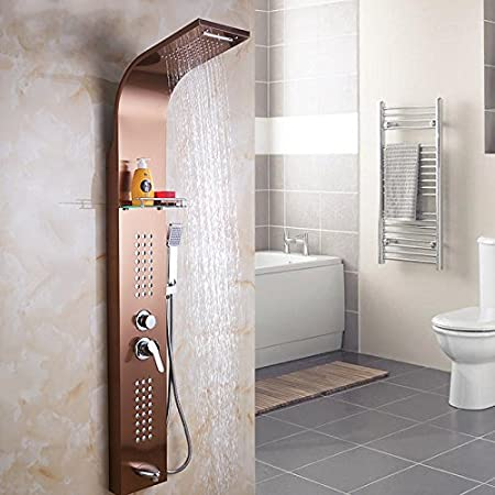 GFEI Set de ducha mampara de ducha ducha de acero inoxidable _ ...