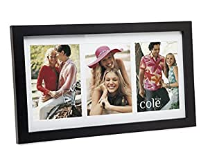 Philip Whitney 3 Opening 4x6 Black Wood Collage Picture Frame