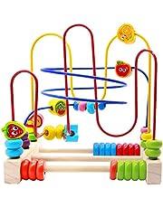 Giochi Frutta Bead Maze Legno Classico Puzzle per Bambini