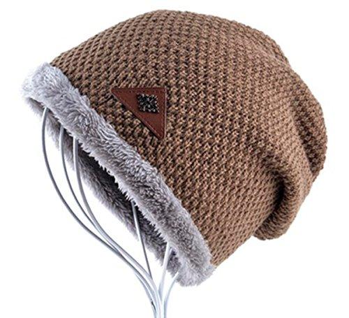 akizon-beanie-hat-cap-fall-and-winter-warm-knit-one-size-unisex-khaki