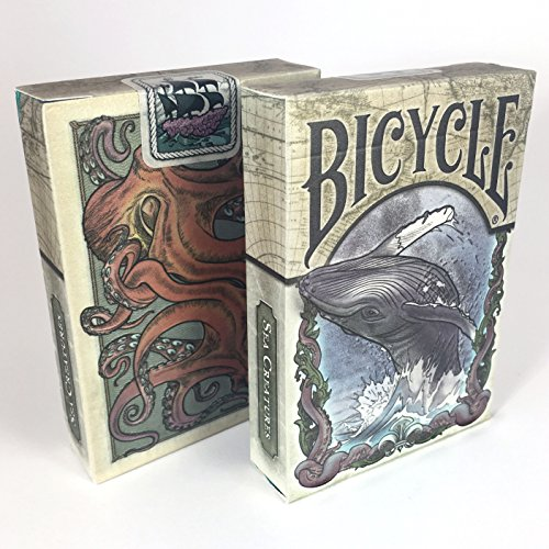 (Brain Vessel Cargo Colorized Sea Creature Themed Bicycle Playing Card Deck, Limited Edition)
