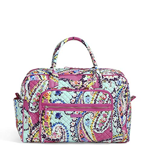 Vera Bradley Iconic Weekender Travel Bag, Signature Cotton, Wildflower Pais
