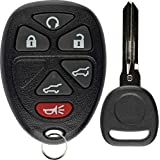 KeylessOption Keyless Entry Remote Control Car Key Fob Replacement for 15913427 with Key