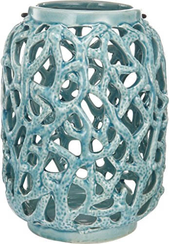 etric Link Ming Dynasty Cutwork Ceramic Garden Candle Holder Lantern (Woven Taper Candles)