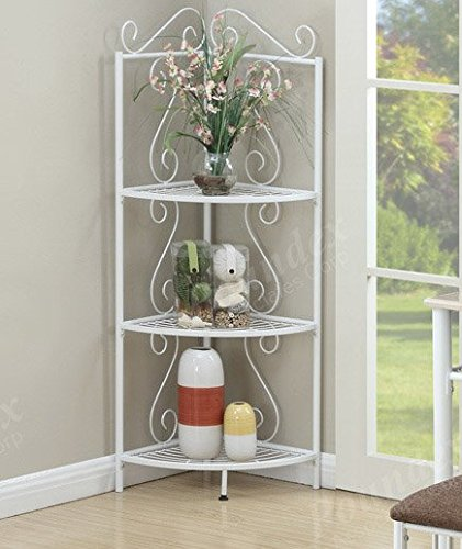 Living Room Display Storage: Price Tracking For: 3-Tier Shelves White Metal Accent