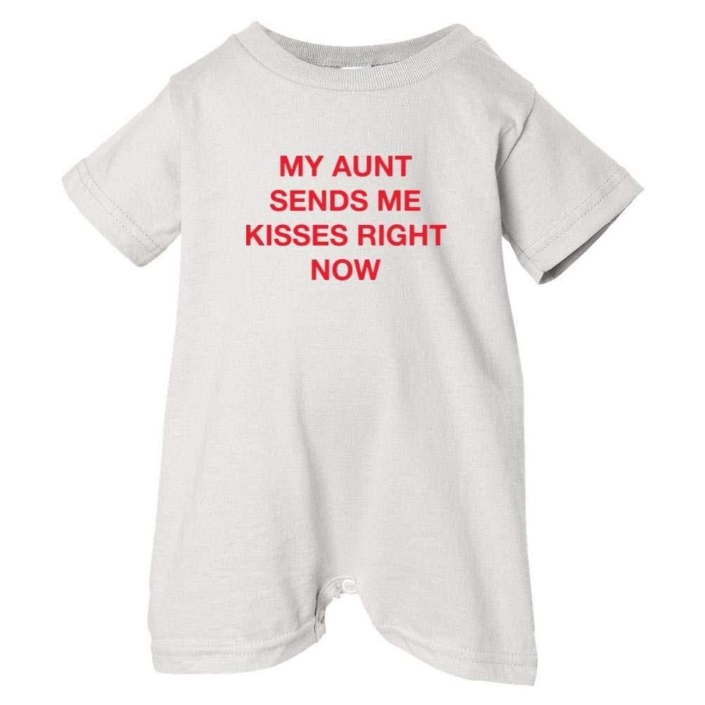Unisex Baby My Aunt Sends Me Kisses Right Now T-Shirt Romper So Relative