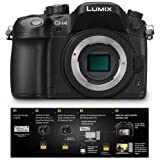 Adorama Panasonic Panasonic Lumix DMC-GH4 Mirrorless Digital Camera Body, 4K Video Recording with Free Panasonic DMW-SFU1-VLOG V-Log L Function Firmware Upgrade Kit