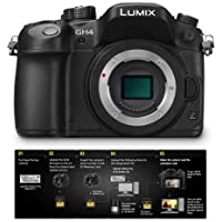 Panasonic Panasonic Lumix DMC-GH4 Mirrorless Digital Camera Body, 4K Video Recording with Free Panasonic DMW-SFU1-VLOG V-Log L Function Firmware Upgrade Kit