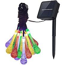 Innoo Tech–Guirnalda Carámbanos Solar cadena luces al aire última intervensión GLOBO luz RGB 20guirnalda de luces LED para patio, Solar Luces Jardín Decoración para Interior Porche Camino Árbol de Navidad