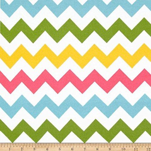 Riley Blake Designs Riley Blake Flannel Basics Chevron Medium Pink/Green, Girl -
