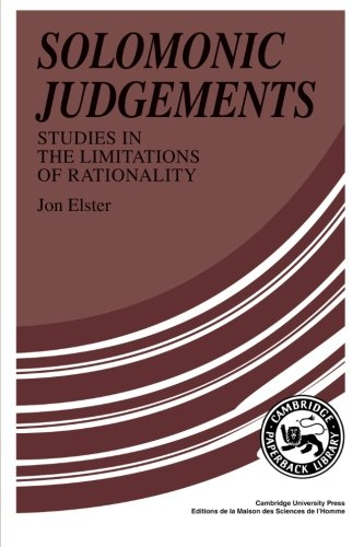 Solomonic Judgements: Studies in the Limitation of Rationality