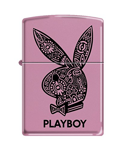 (Zippo Playboy Pocket Lighter, Pink Matte)
