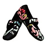 Nufoot Betsy Lou Women's Shoes, Best Foldable & Flexible Flats, Slipper Socks, Travel Slippers & Exercise Shoes, Dance Shoes, Yoga Socks, House Shoes, Indoor Slippers, Navy Chains, Small