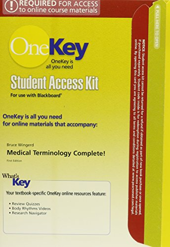 OneKey Blackboard, Student Access Card, Medical Terminology Complete!