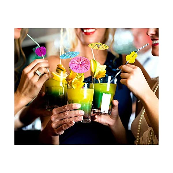 144 Pz Ombrelli da Cocktail, Bere Castoncini per Decorazione Cocktail, Beach Party, Decorazione, Accessori per Feste (6… 7 spesavip