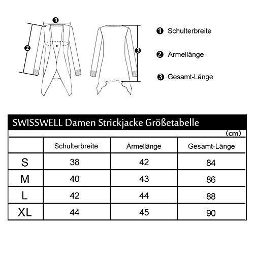 Outwear Donna Con Semplice Tasche Casual Glamorous Cappotto Lunga Dunkelgrün Maglione Cardigan Sciolto Top Giacca Asimmetrico Manica 8x4wq8ad