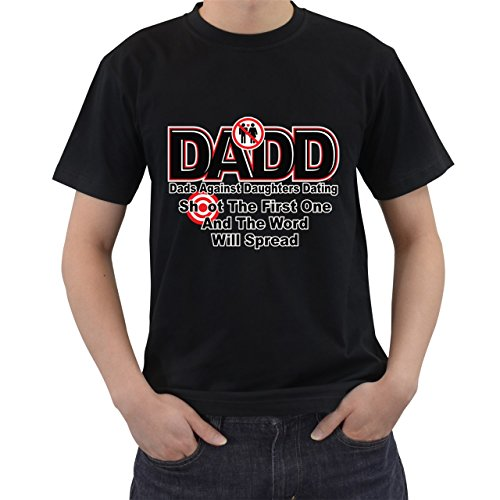 [Dadd Dads Against Daughters Dating Funny Fathers Day T-Shirt Black M] (80s Rock God Costumes)